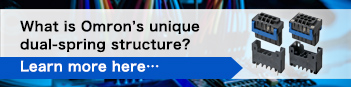 What is Omron's unique dual-spring structure? Learn more here…
