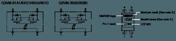 G3VM-401A/D:Dimensions6