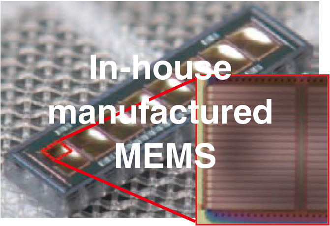 In-house manufactured MEMS
