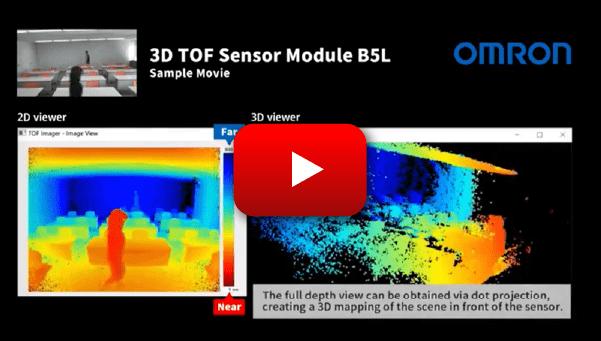 OMRON's 3D TOF Sensor Module demonstration video