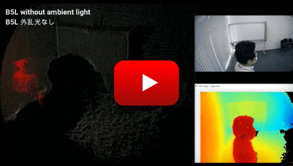OMRON's 3D TOF Sensor Module demonstration video: Without ambient light