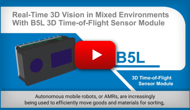Real-Time 3D Vision in Mixed Environments With B5L 3D Time-of-Flight Sensor Module
