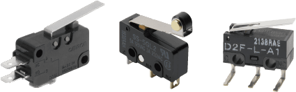 Miniature basic switch D3V/SS/D2F