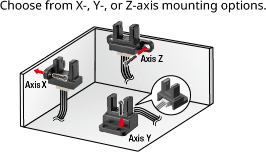 Choose from X-, Y-, or Z-axis mounting options. SPDT relay module with small footprint