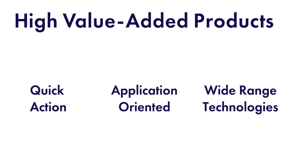 High-Value-Added Products:Wide Range Technologies