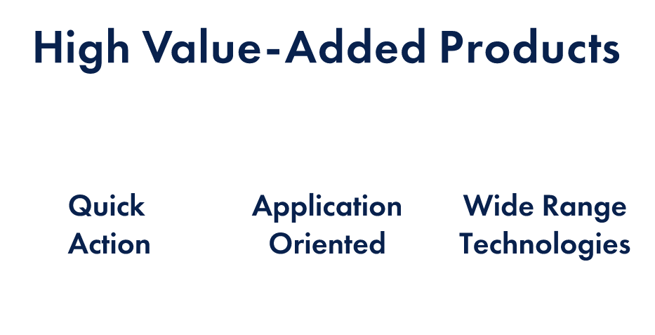 High-value-added Products:Quick Action