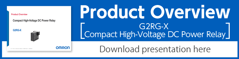 Product Overview: G2RG-X Compact High-Voltage DC Power Relay