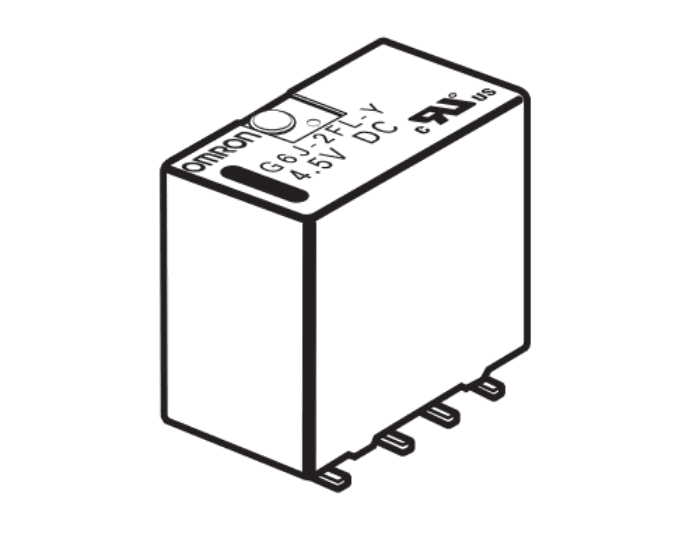 G6J-2FL-Y Surface-Mounting terminals, long