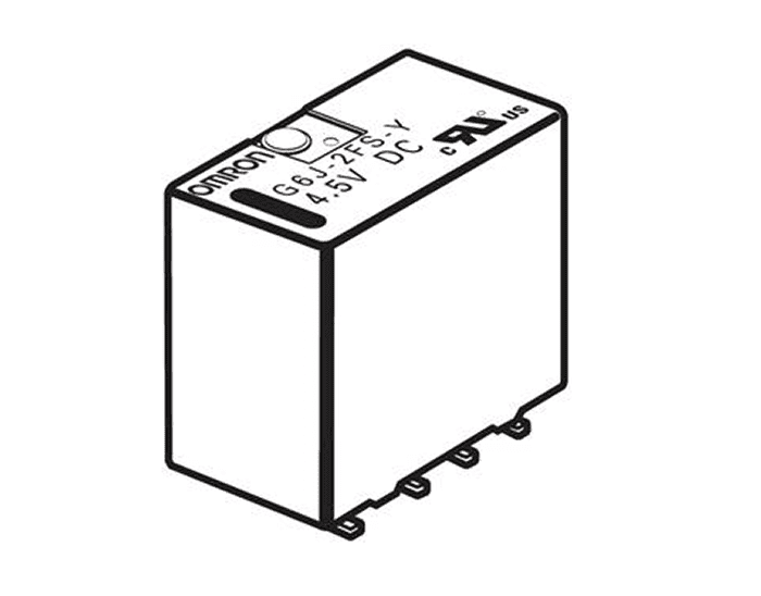 G6J-2FS-Y Surface-Mounting terminals, short