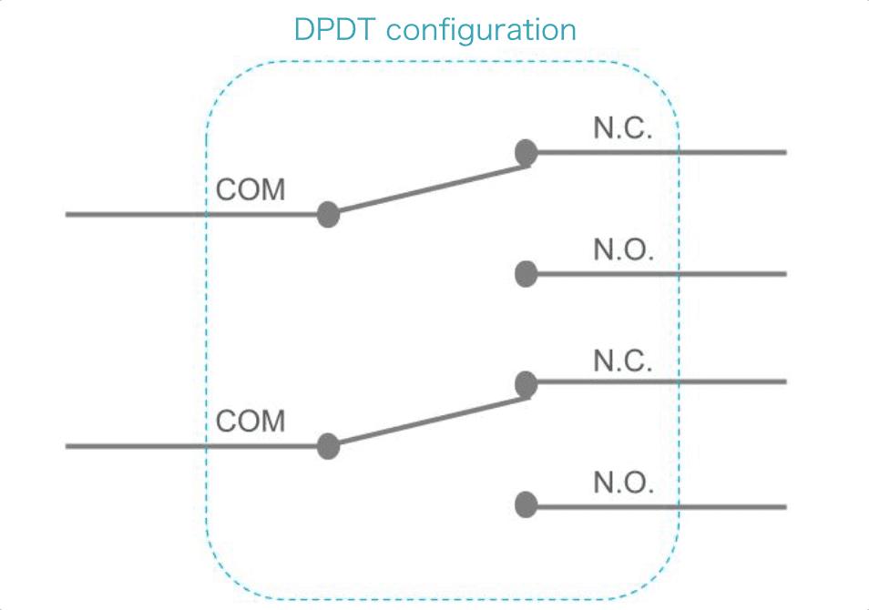 Double-Pole, Double-Throw configuration