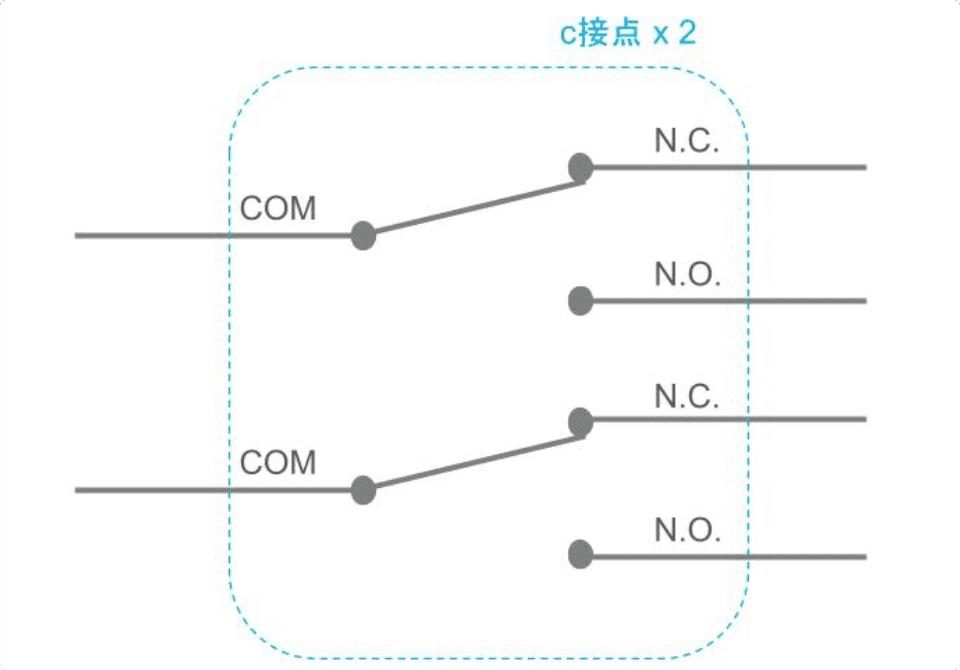 2極c接点構成図