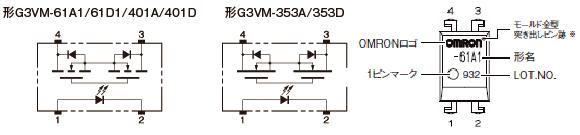 形G3VM-61A1:外形3