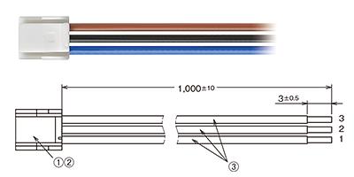 コード付コネクタ(別売)形EE-5002 1M