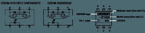G3VM-61B1/E1:Dimensions6
